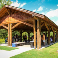 One of the facilities at Camp Canaan is a beautiful outdoor shelter for picnics.