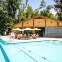 Photo of the swimming pool at Camp Canaan.