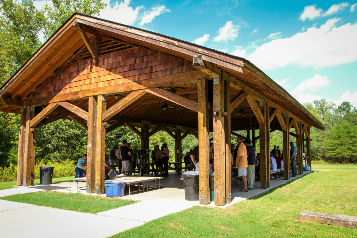 A photo of the picnic pavilion at Camp Canaan.